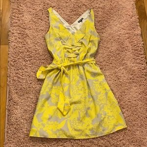 Yellow and gray Express Dress